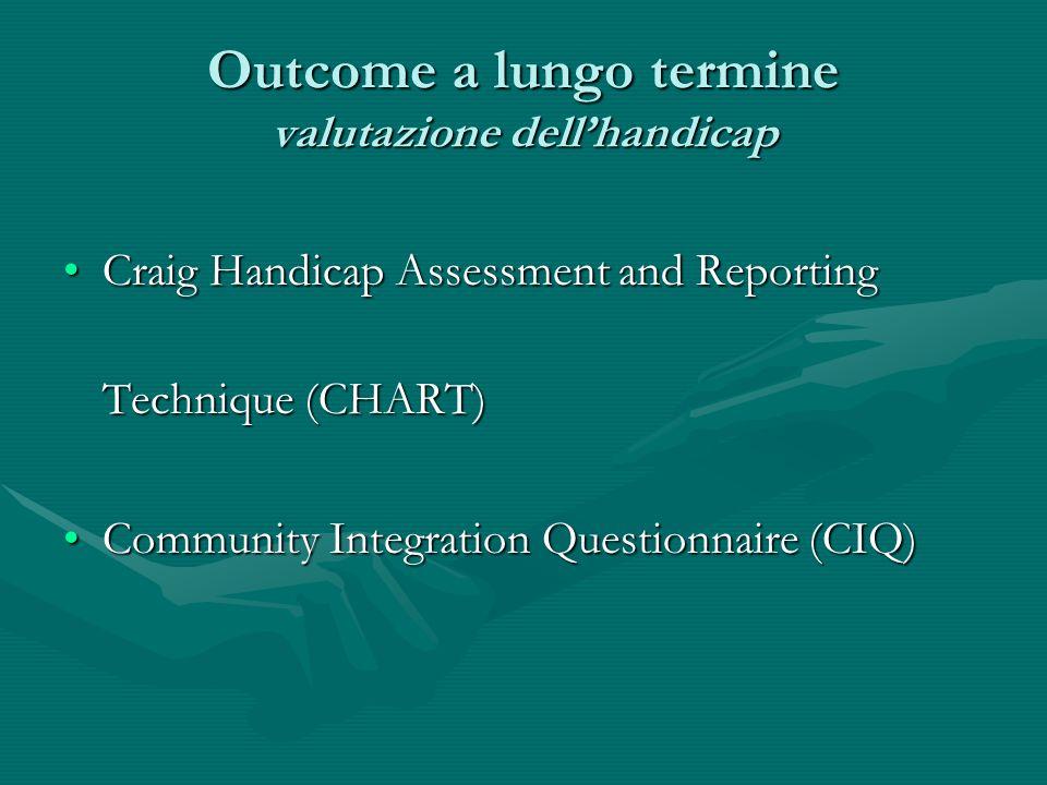 Outcome a lungo termine valutazione dellhandicap Craig Handicap Assessment and Reporting Technique (CHART)Craig Handicap Assessment and Reporting Tech