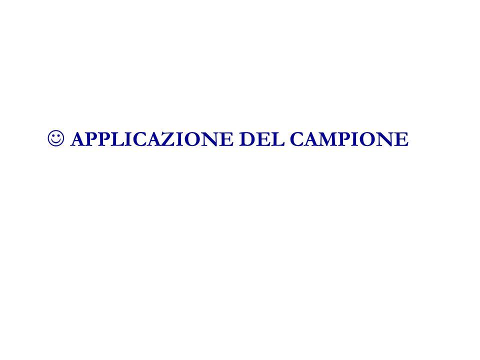 APPLICAZIONE DEL CAMPIONE