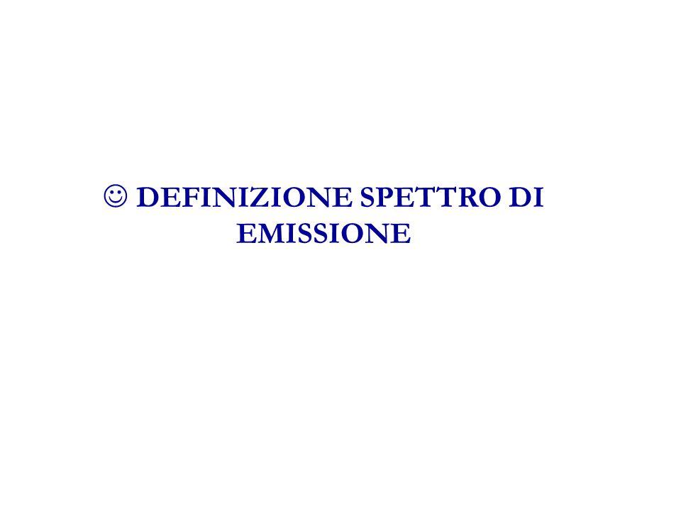 DEFINIZIONE SPETTRO DI EMISSIONE