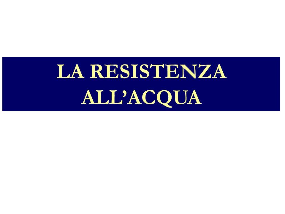 LA RESISTENZA ALLACQUA