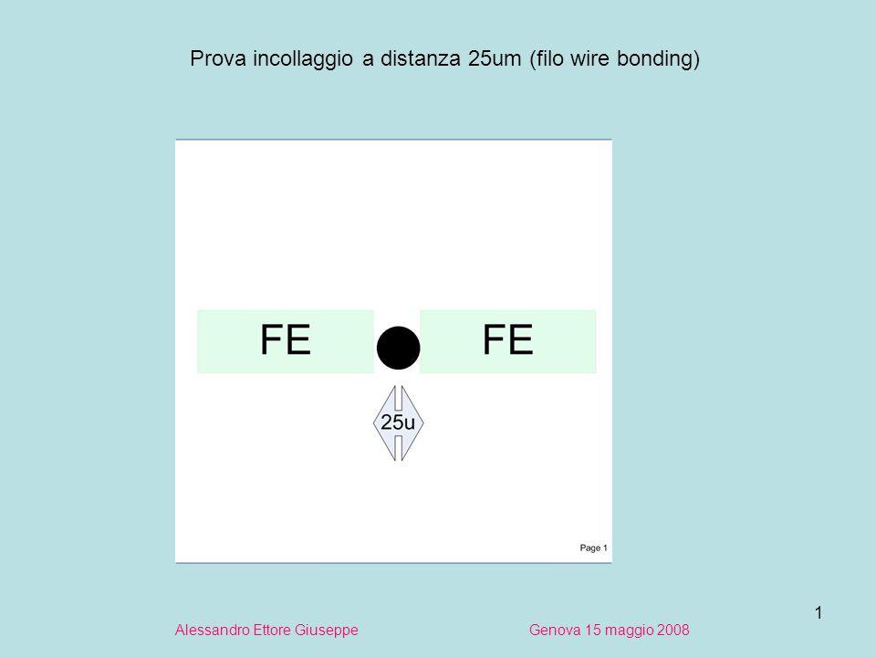 1 Alessandro Ettore Giuseppe Genova 15 maggio 2008 Prova incollaggio a distanza 25um (filo wire bonding)