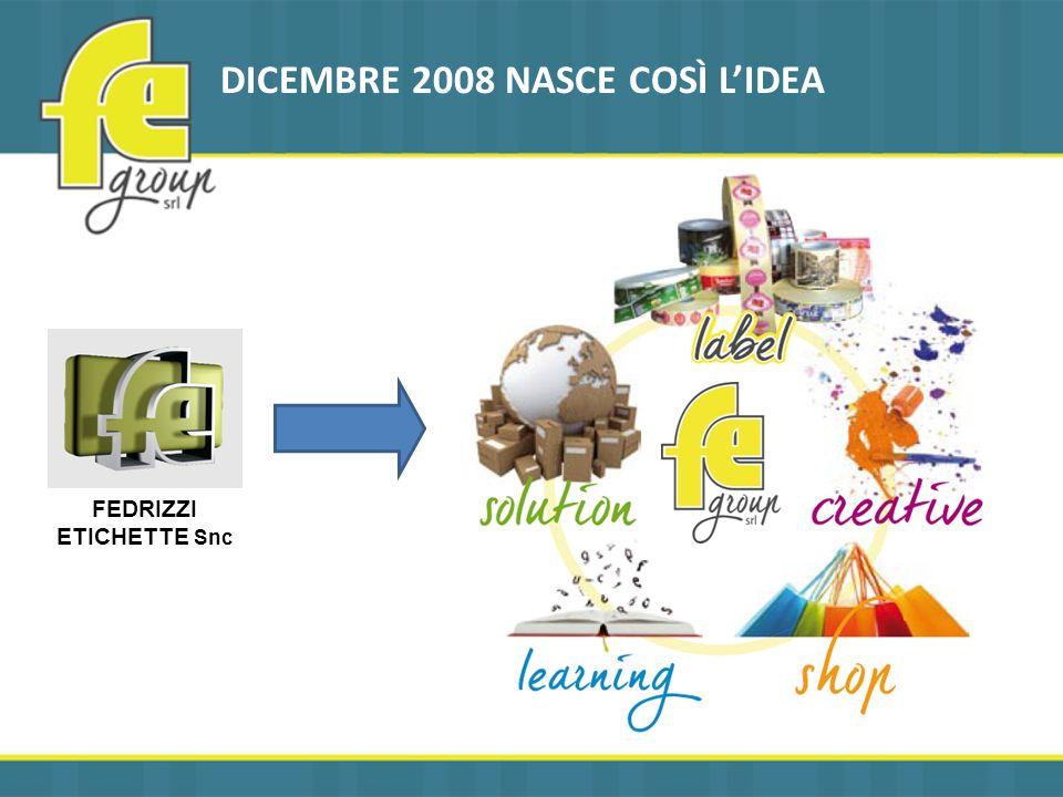 DICEMBRE 2008 NASCE COSÌ LIDEA FEDRIZZI ETICHETTE Snc