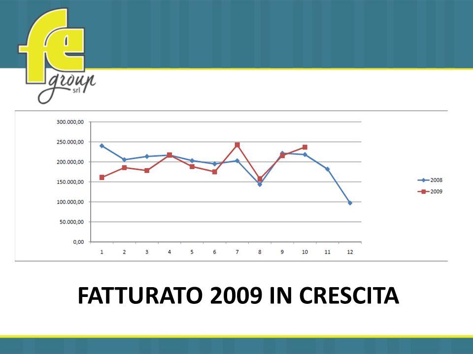 FATTURATO 2009 IN CRESCITA