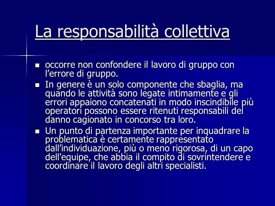 La responsabilità collettiva occorre non confondere il lavoro di gruppo con lerrore di gruppo. occorre non confondere il lavoro di gruppo con lerrore
