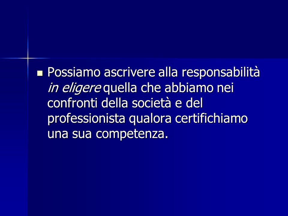 Possiamo ascrivere alla responsabilità in eligere quella che abbiamo nei confronti della società e del professionista qualora certifichiamo una sua co
