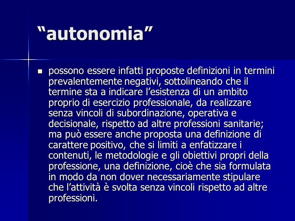 autonomia possono essere infatti proposte definizioni in termini prevalentemente negativi, sottolineando che il termine sta a indicare lesistenza di u