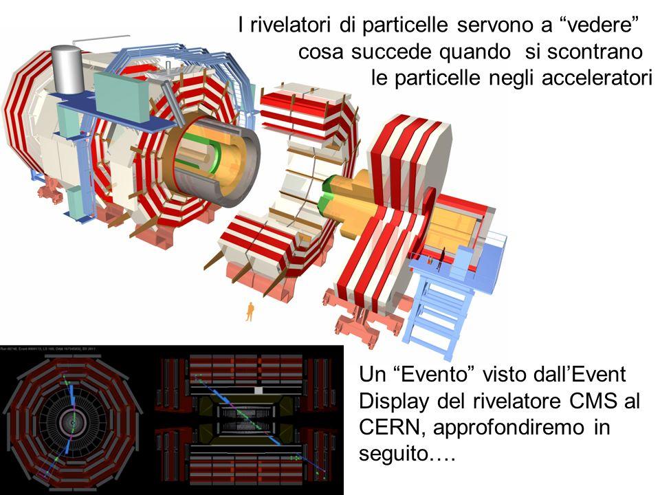 I rivelatori di particelle servono a vedere cosa succede quando si scontrano le particelle negli acceleratori Un Evento visto dallEvent Display del ri