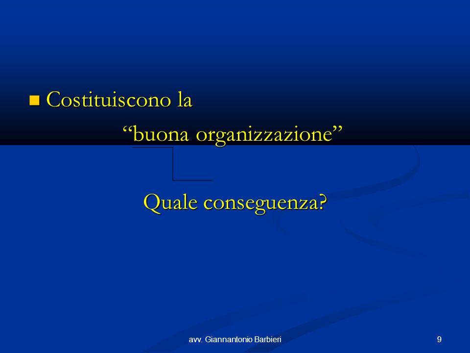Costituiscono la Costituiscono la buona organizzazione Quale conseguenza.