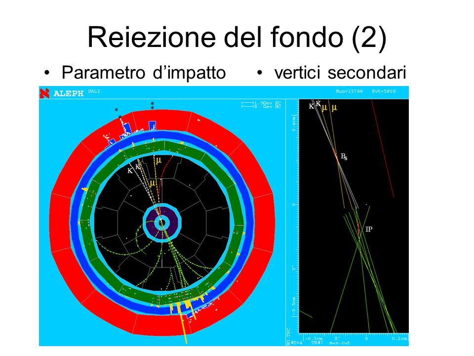 Reiezione del fondo (2) Parametro dimpattovertici secondari