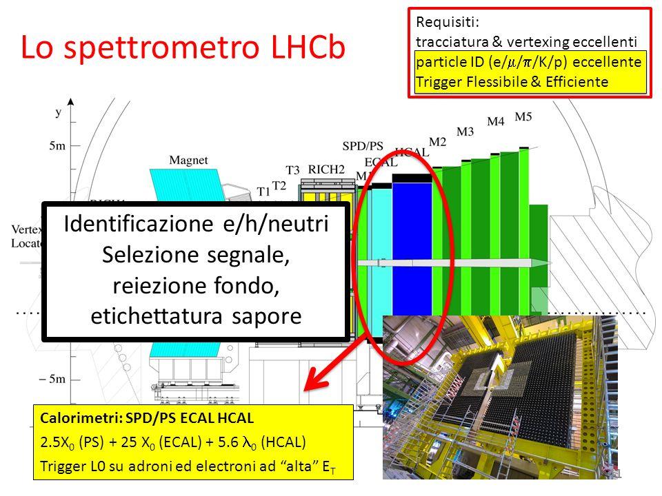 June 18th, 2008 Calorimetri: SPD/PS ECAL HCAL 2.5X 0 (PS) + 25 X 0 (ECAL) + 5.6 0 (HCAL) Trigger L0 su adroni ed electroni ad alta E T Identificazione