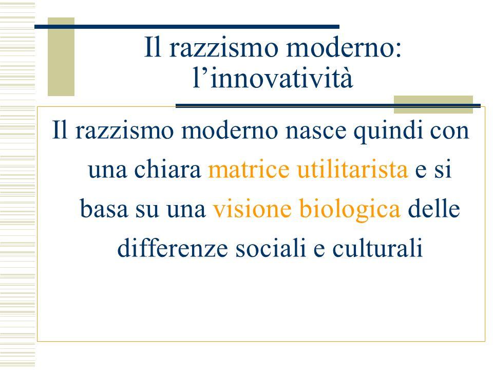 Il razzismo scientifico in Italia Reinserimento della determinante biologica nel 1938 con il Manifesto della razza: Una sola razza dalle Alpi alla Sicilia, data dal comune passato longobardo.