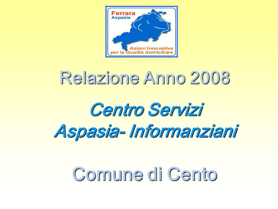 Relazione Anno 2008 Centro Servizi Aspasia- Informanziani Comune di Cento