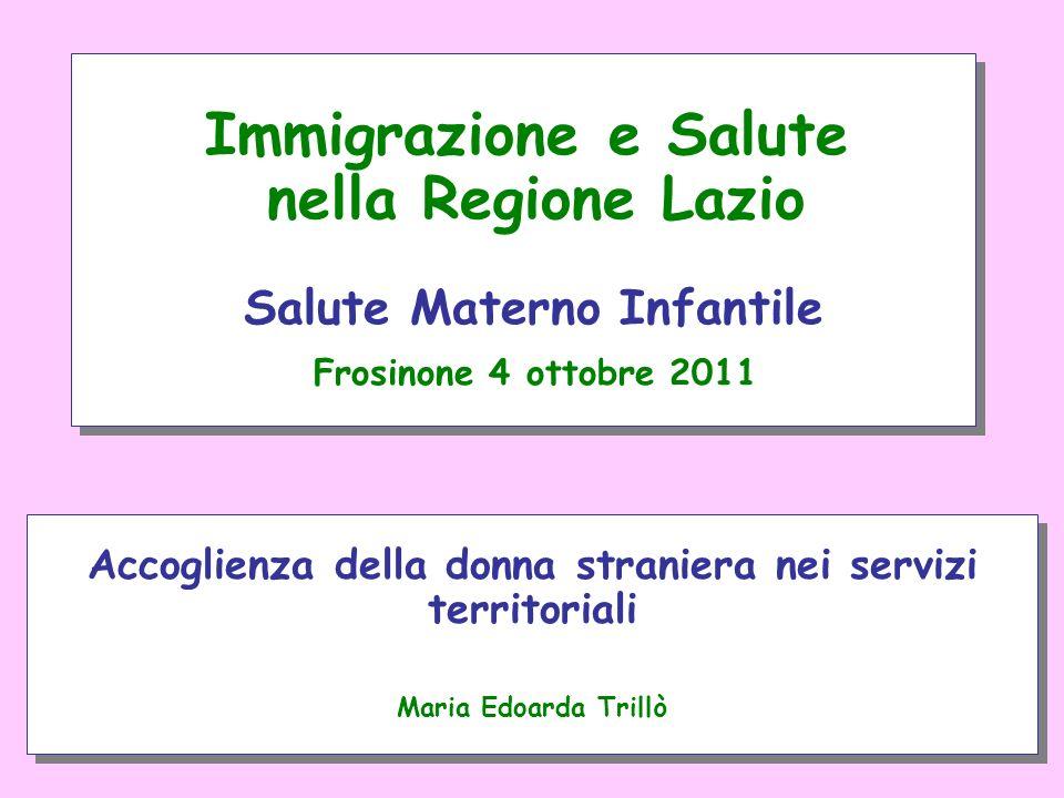 Accoglienza della donna straniera nei servizi territoriali Maria Edoarda Trillò Accoglienza della donna straniera nei servizi territoriali Maria Edoar