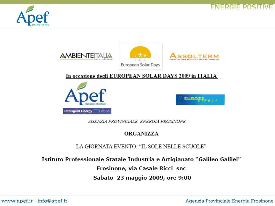 Gli impianti fotovoltaici della Provincia di Frosinone