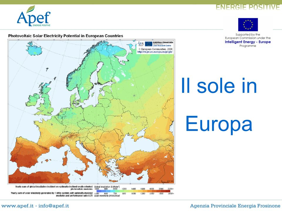 Il sole in Europa