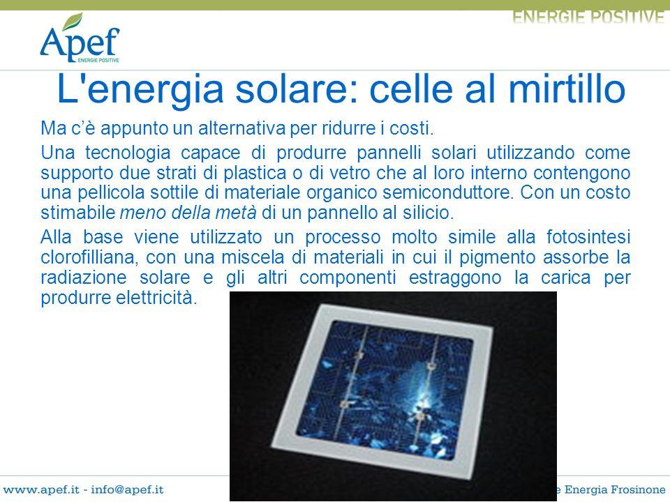 Ma cè appunto un alternativa per ridurre i costi. Una tecnologia capace di produrre pannelli solari utilizzando come supporto due strati di plastica o