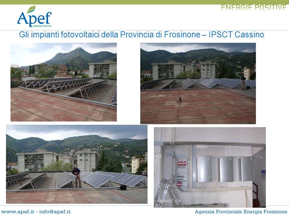 Gli impianti fotovoltaici della Provincia di Frosinone – IPSCT Cassino