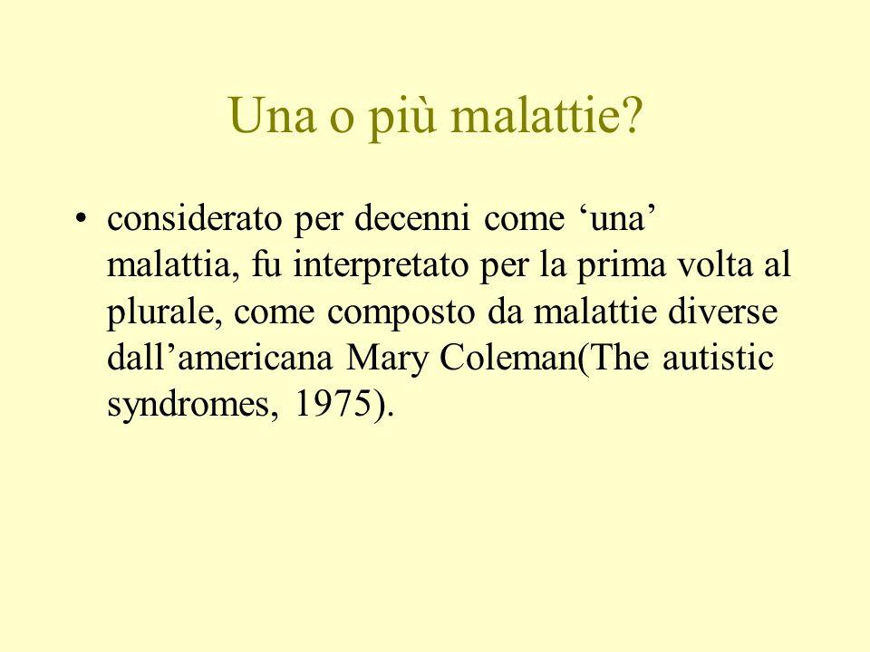 Una o più malattie? considerato per decenni come una malattia, fu interpretato per la prima volta al plurale, come composto da malattie diverse dallam
