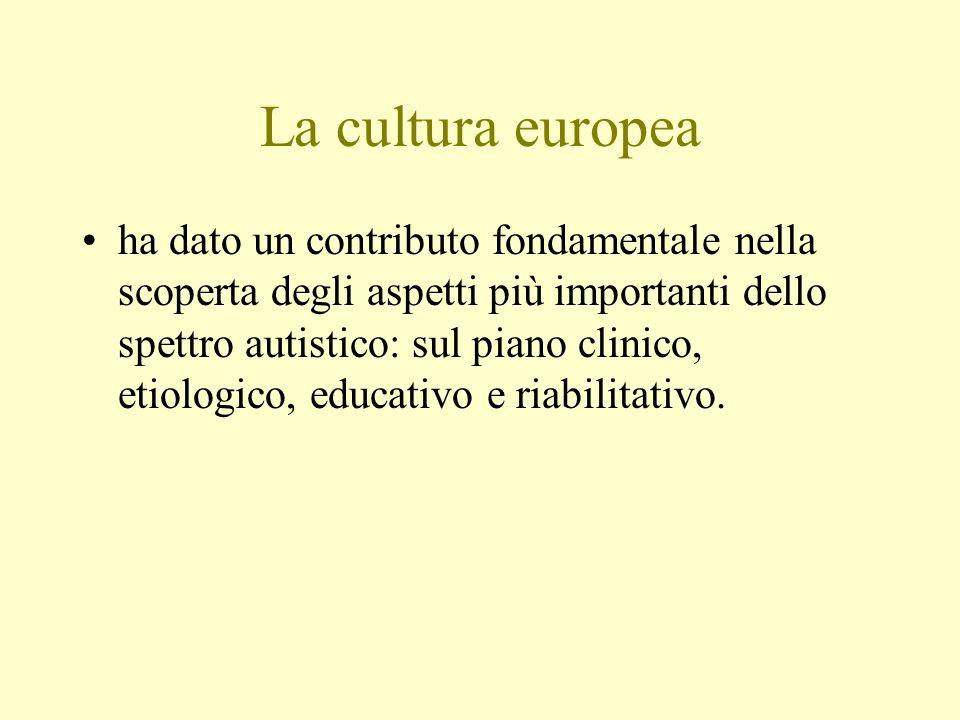 La cultura europea ha dato un contributo fondamentale nella scoperta degli aspetti più importanti dello spettro autistico: sul piano clinico, etiologi