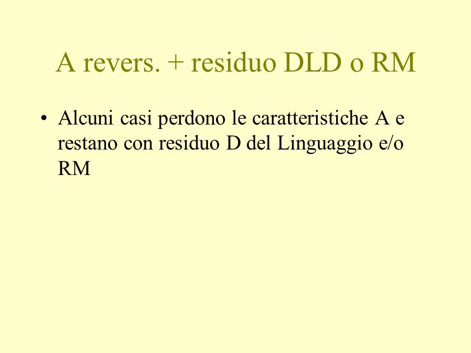A revers.
