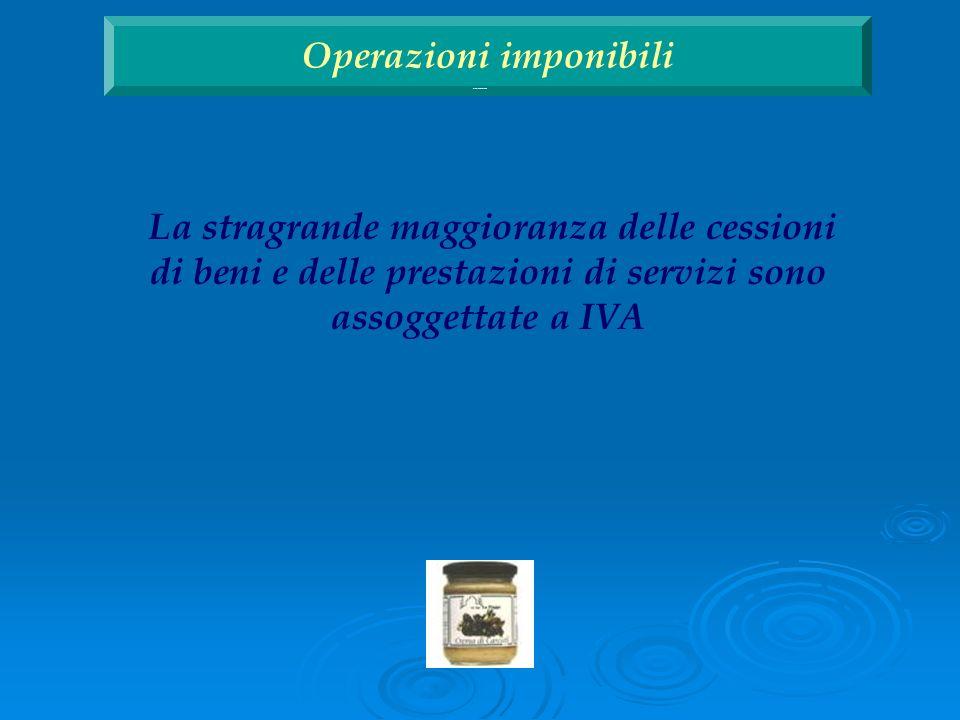 Operazioni ai fini IVA Operazioni imponibili Operazioni non imponibili Operazioni esenti Operazioni escluse Operazioni ai fini IVA