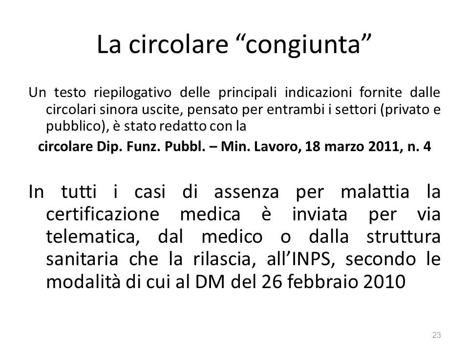 La circolare congiunta Un testo riepilogativo delle principali indicazioni fornite dalle circolari sinora uscite, pensato per entrambi i settori (priv