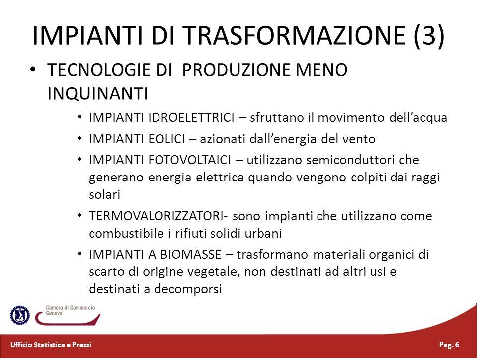 COMPOSIZIONE PRODUZIONE OLTRE L80% DELLENERGIA ELETTRICA ITALIANA E GENERATA DA IMPIANTI TERMOELETTRICI: GAS NATURALE (65% CIRCA), CARBONE IN AUMENTO NELLULTIMO DECENNIO E PRODOTTI PETROLIFERI PERDONO PESO E ALTRI COMBUSTIBILI (IN AUMENTO) CON QUOTA RESIDUALE SUPERIORE AL 10% IL PESO DELLA PRODUZIONE IDROELETTRICA LA PRODUZIONE CON FONTI RINNOVABILI, IN CRESCITA, RIMANE ANCORA PITTOSTO RESIDUALE Pag.