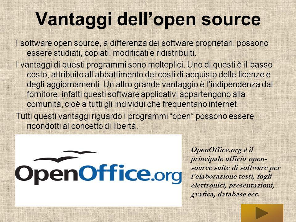 Libertà dellOpen Source Tutti gli utenti dei software open godono di quattro libertà fondamentali: Libertà di eseguire il programma per qualsiasi scopo.
