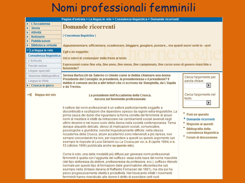 Nomi professionali femminili