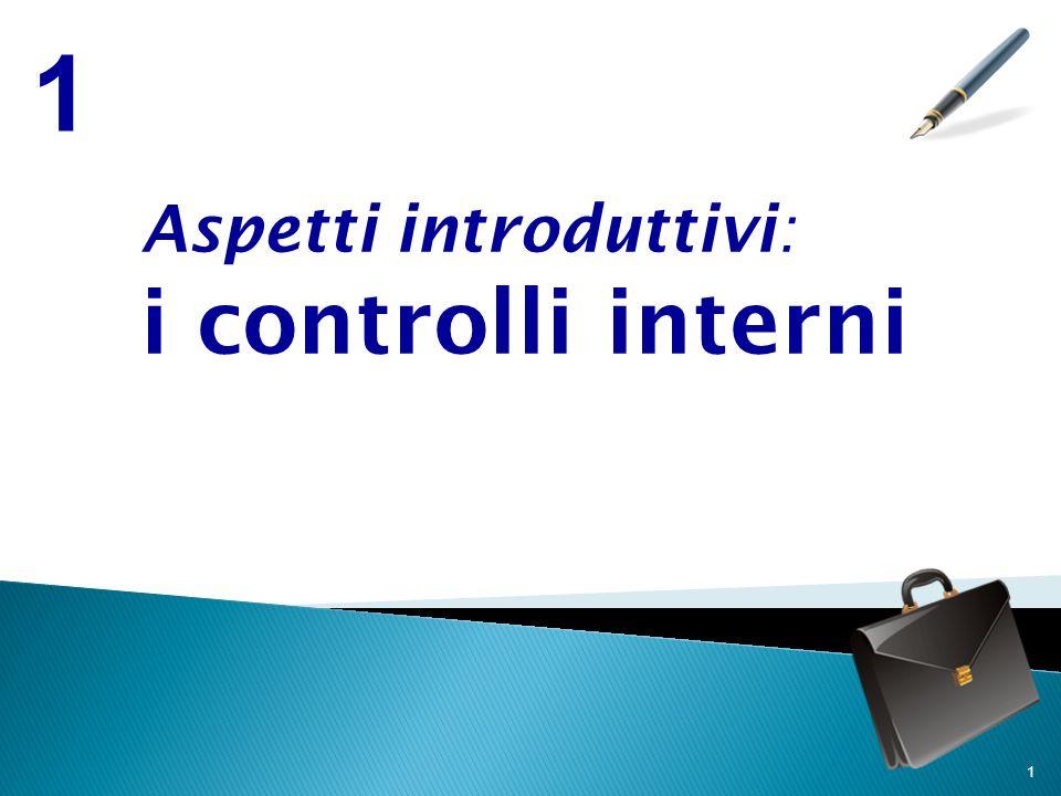1 1 Aspetti introduttivi: i controlli interni