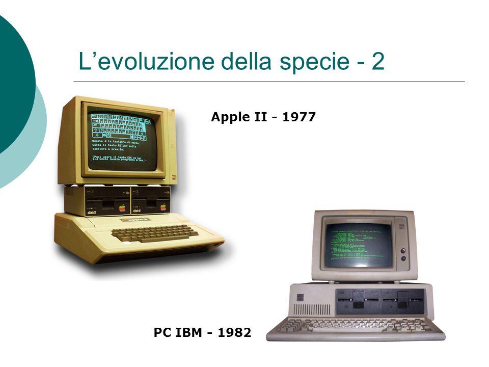 Levoluzione della specie - 2 Apple II - 1977 PC IBM - 1982