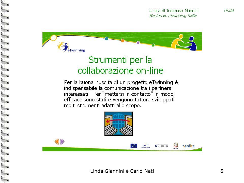 Linda Giannini e Carlo Nati5 a cura di Tommaso Mannelli Unità Nazionale eTwinning Italia
