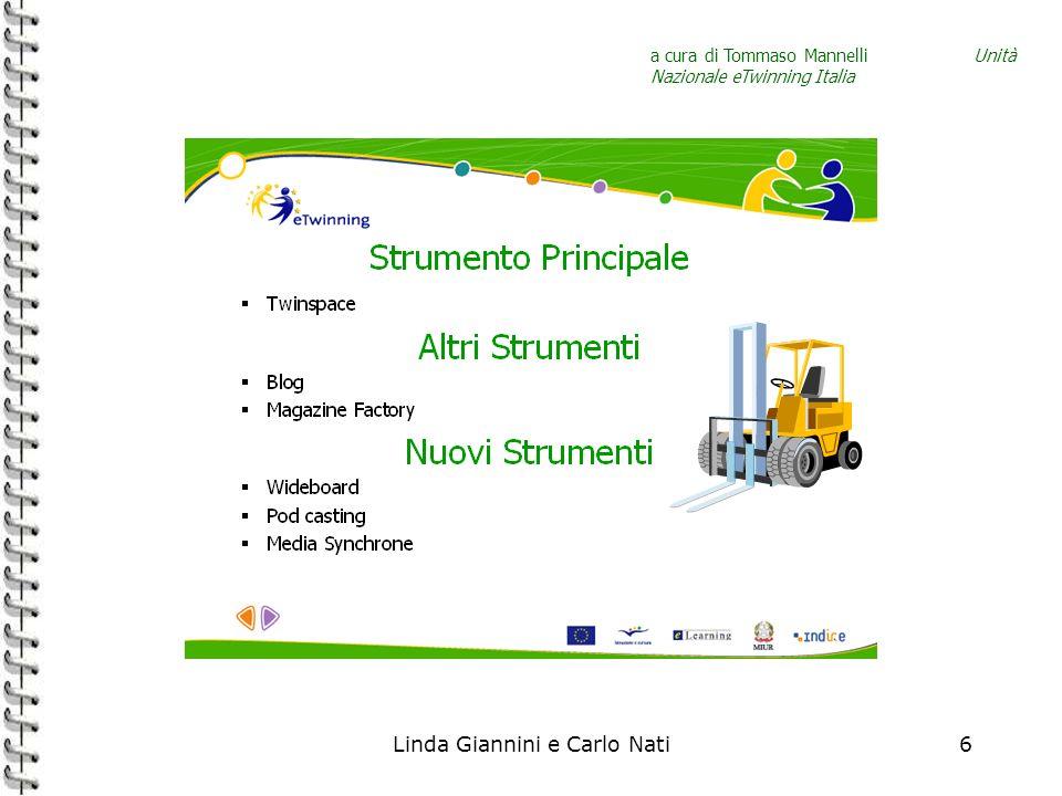 Linda Giannini e Carlo Nati6 a cura di Tommaso Mannelli Unità Nazionale eTwinning Italia