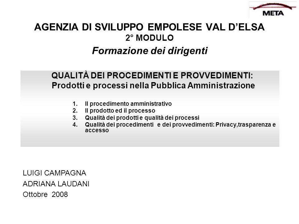 PARTE PRIMA IL PROCEDIMENTO AMMINISTRATIVO Capo I Principi generali (Legge 241/90) 1.1.