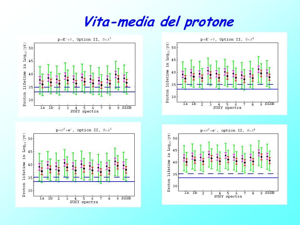Conclusioni Decadimento del protone : test determinante per GUT Necessita di una stima dettagliata per M c Analisi next-to-leading order per il calcolo di M c includendo incertezze teoriche e sperimentali: Opzione 0 (quasi completam.