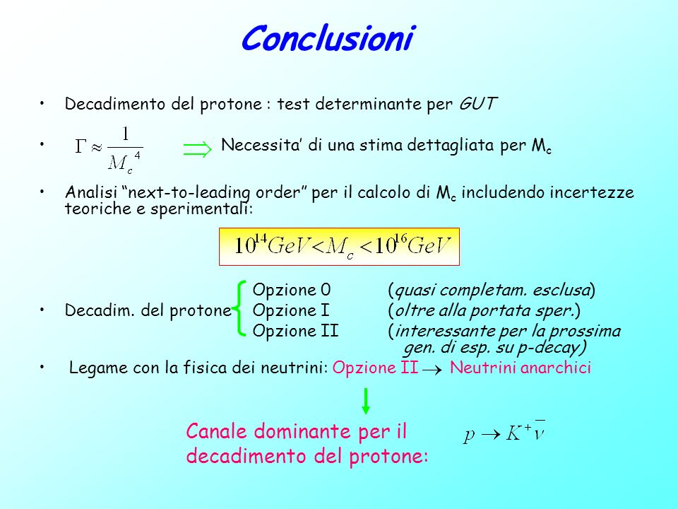 Content Matter Localization and Textures for fermion masses Interaction basis Mass Eigenstate basis Gauge Coupling Unification in a next-to-leading order analysis Estimate of Mc with errors bars Chiral Lagrangian tecniche from quark level to hadron level Estimate of Proton Lifetime with error bars