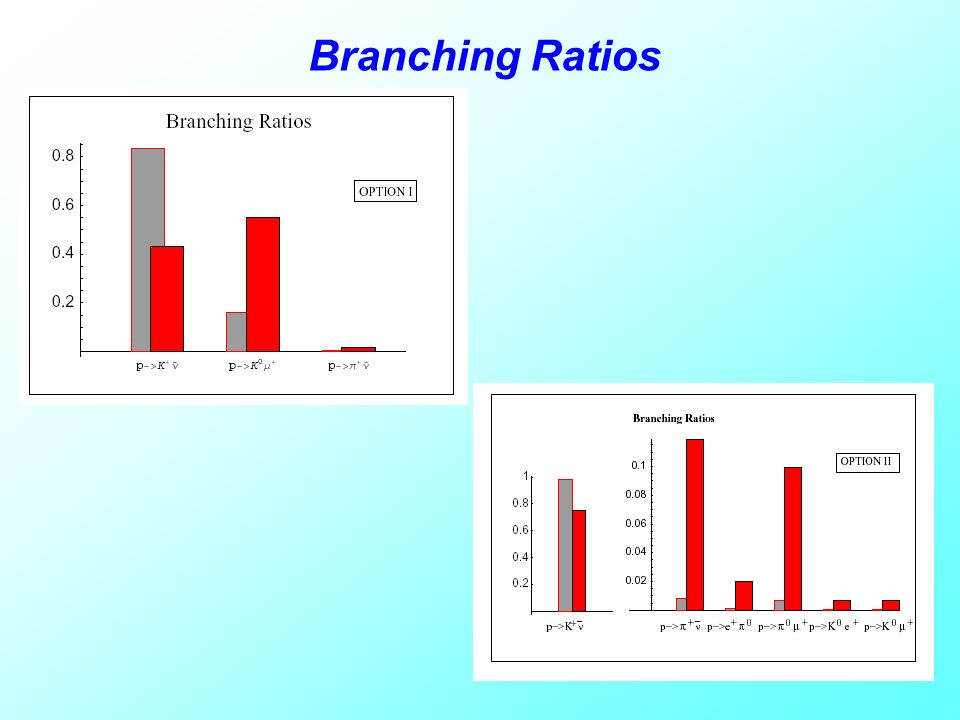 Branching Ratios