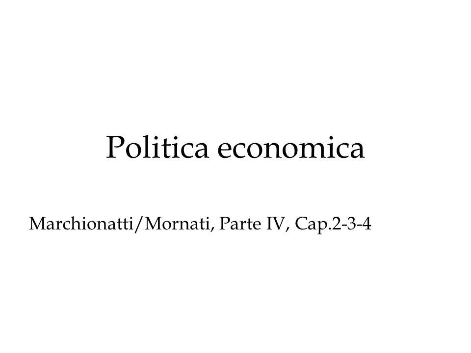 Politica economica Marchionatti/Mornati, Parte IV, Cap.2-3-4