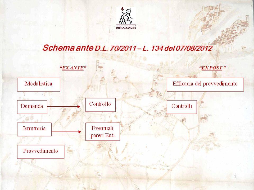 Nuovo schema procedurale e organizzativo con D.L.70/2011 e L.