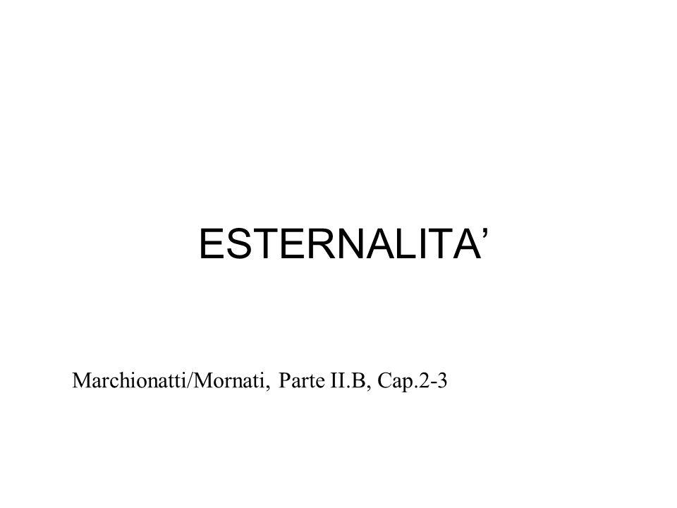 ESTERNALITA Marchionatti/Mornati, Parte II.B, Cap.2-3