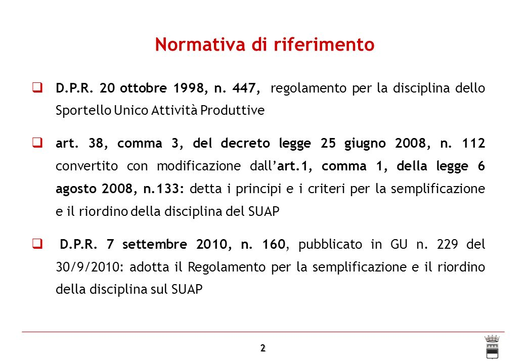 3 La tendenza generale entrata in vigore della Segnalazione Certificata di Inizio Attività (L.
