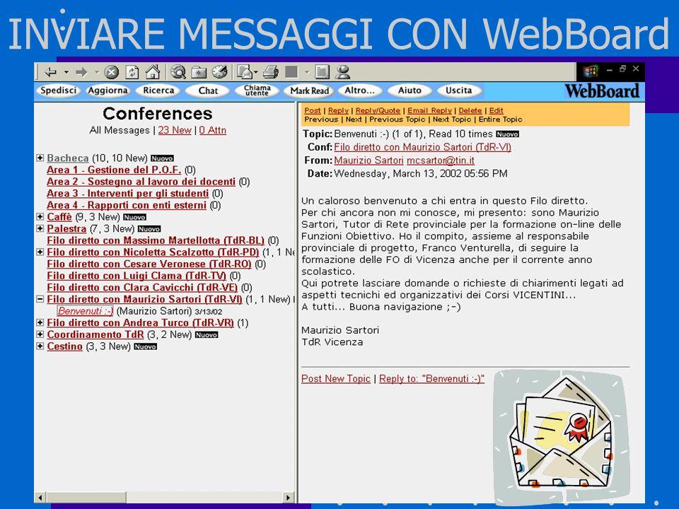 INVIARE MESSAGGI CON WebBoard