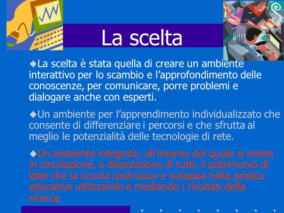 http://puntoedu.indire.it/ Entrando in questo sito sarà possibile accedere alle sezioni: Aula di studio dove si valorizzano, presentandole nella forma di studio di caso, esperienze significative attuate nelle scuole.