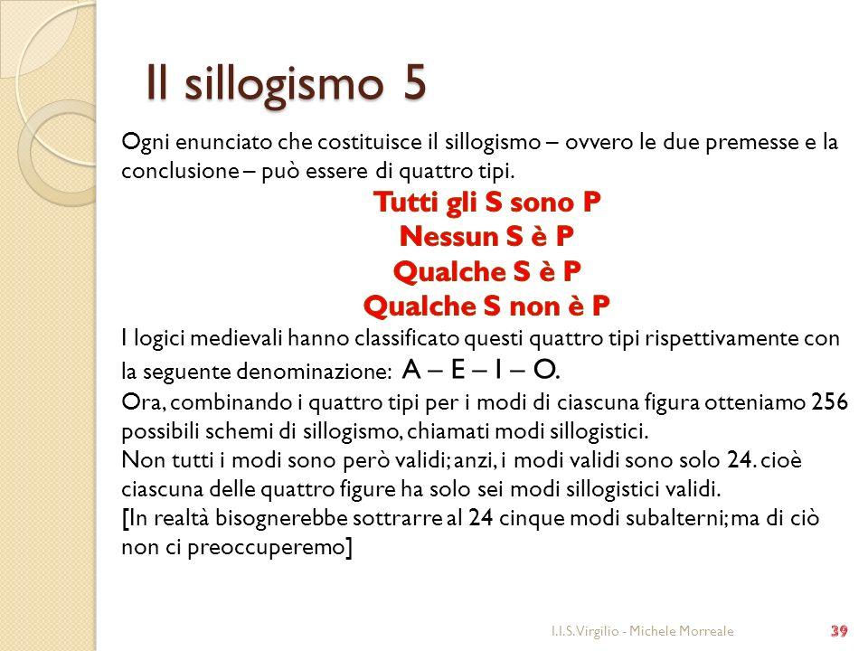Il sillogismo 5 I.I.S. Virgilio - Michele Morreale