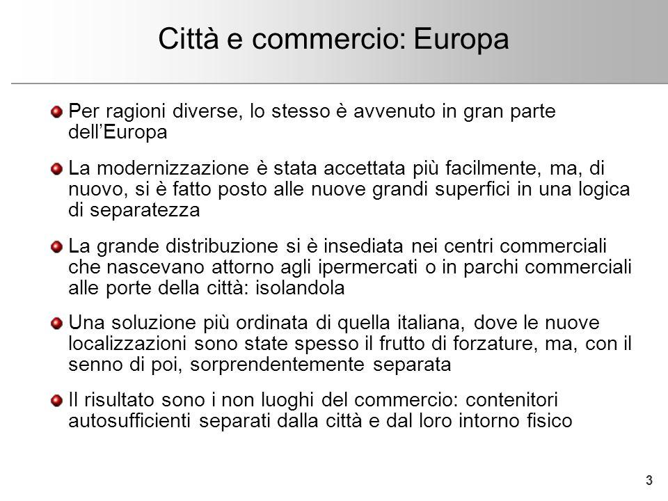 Fare clic per modificare lo stile del titolo dello schema Città e commercio: ritrovare una sintesi In Italia, come nel resto dellEuropa, è ora di ritrovare una sintesi tra sviluppo urbano e commercio.