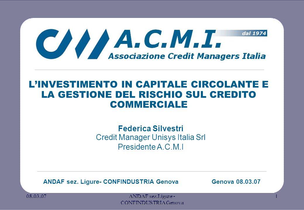 08.03.07ANDAF sez.Ligure - CONFINDUSTRIA Genova 2 A.C.M.I scopo e attività.