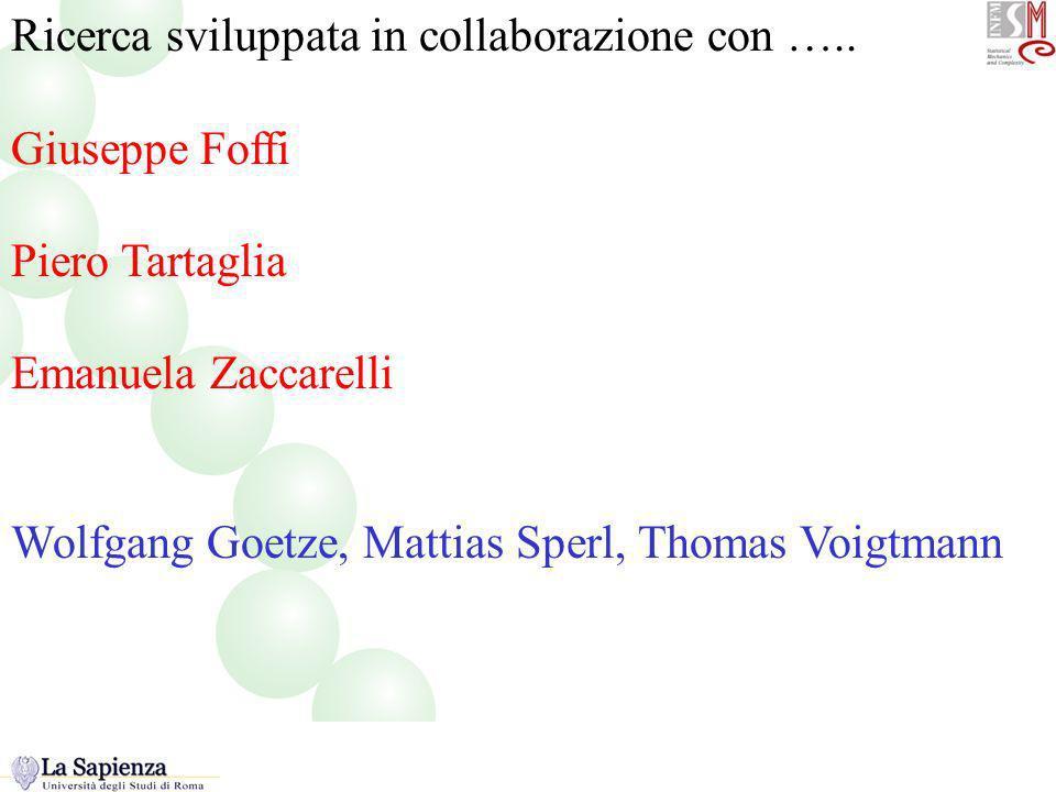 Ricerca sviluppata in collaborazione con ….. Giuseppe Foffi Piero Tartaglia Emanuela Zaccarelli Wolfgang Goetze, Mattias Sperl, Thomas Voigtmann colla