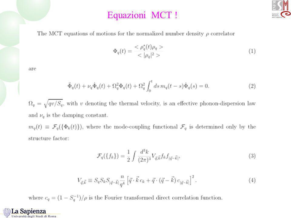 Equazioni MCT ! Equazioni base della MCT