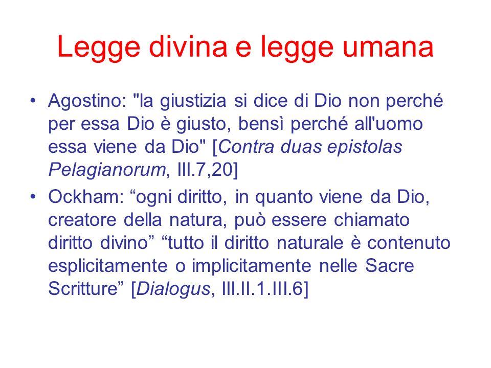 Legge divina e legge umana Agostino: