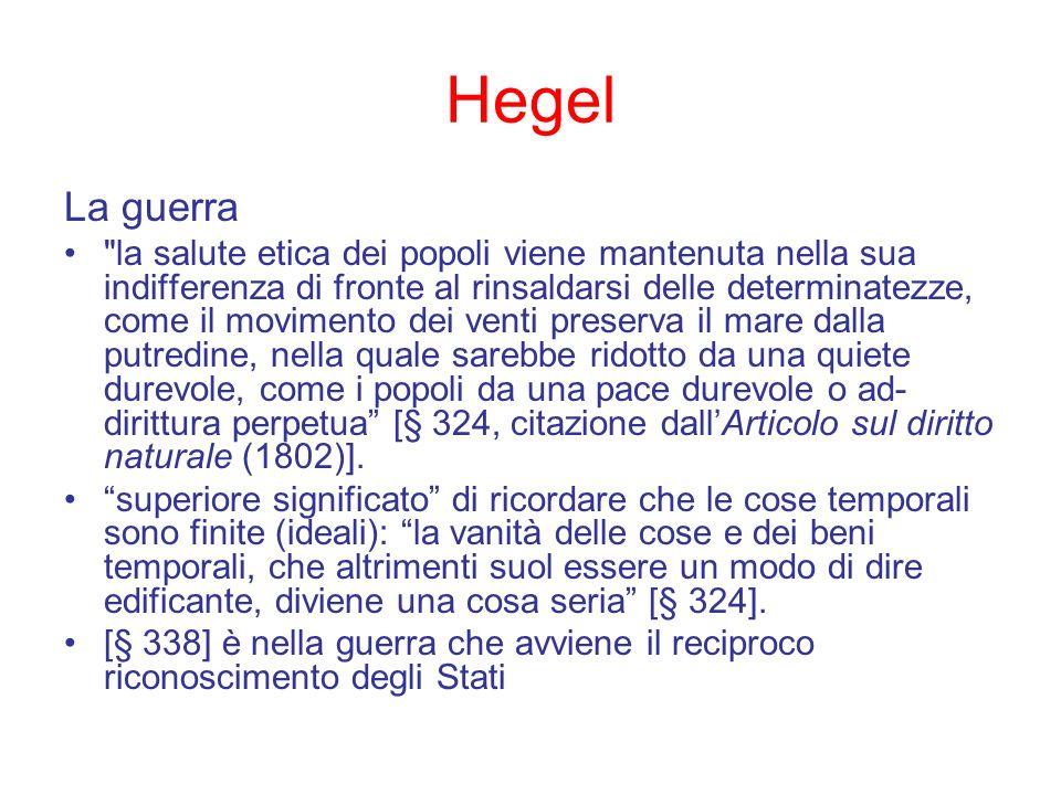 Hegel La guerra